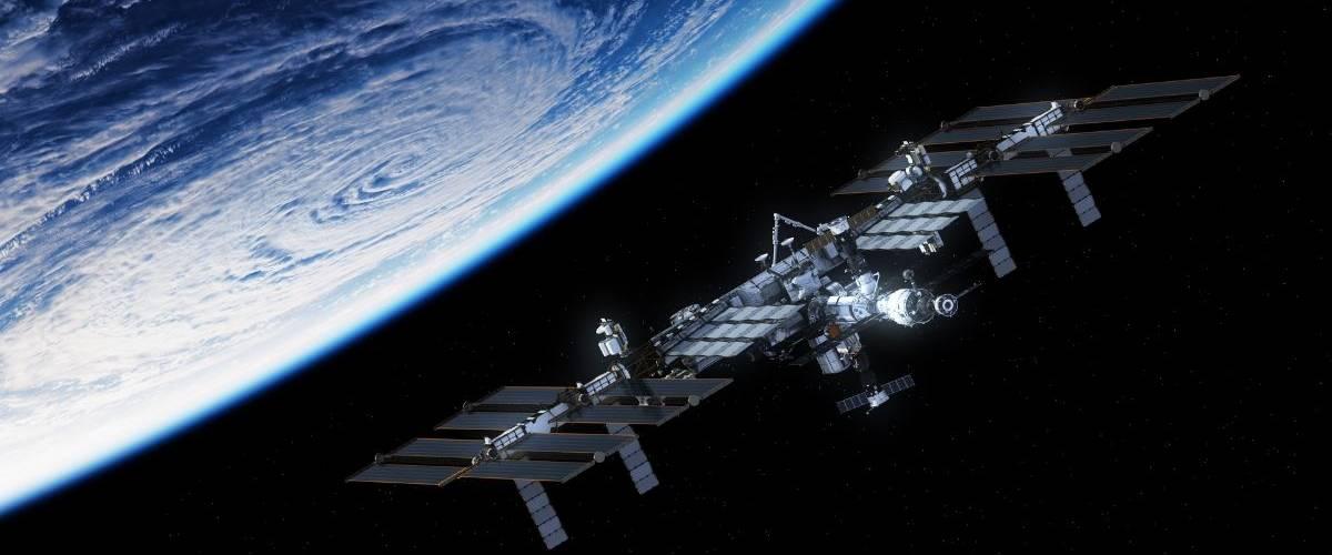Ilustration 3D de la Station spaciale Internationale de la NASA