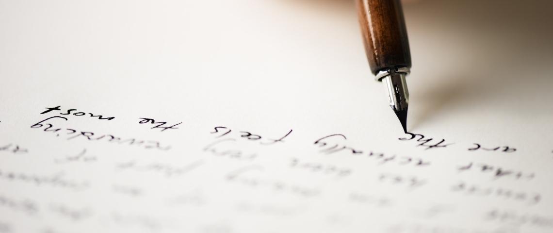 stylo plume écriture