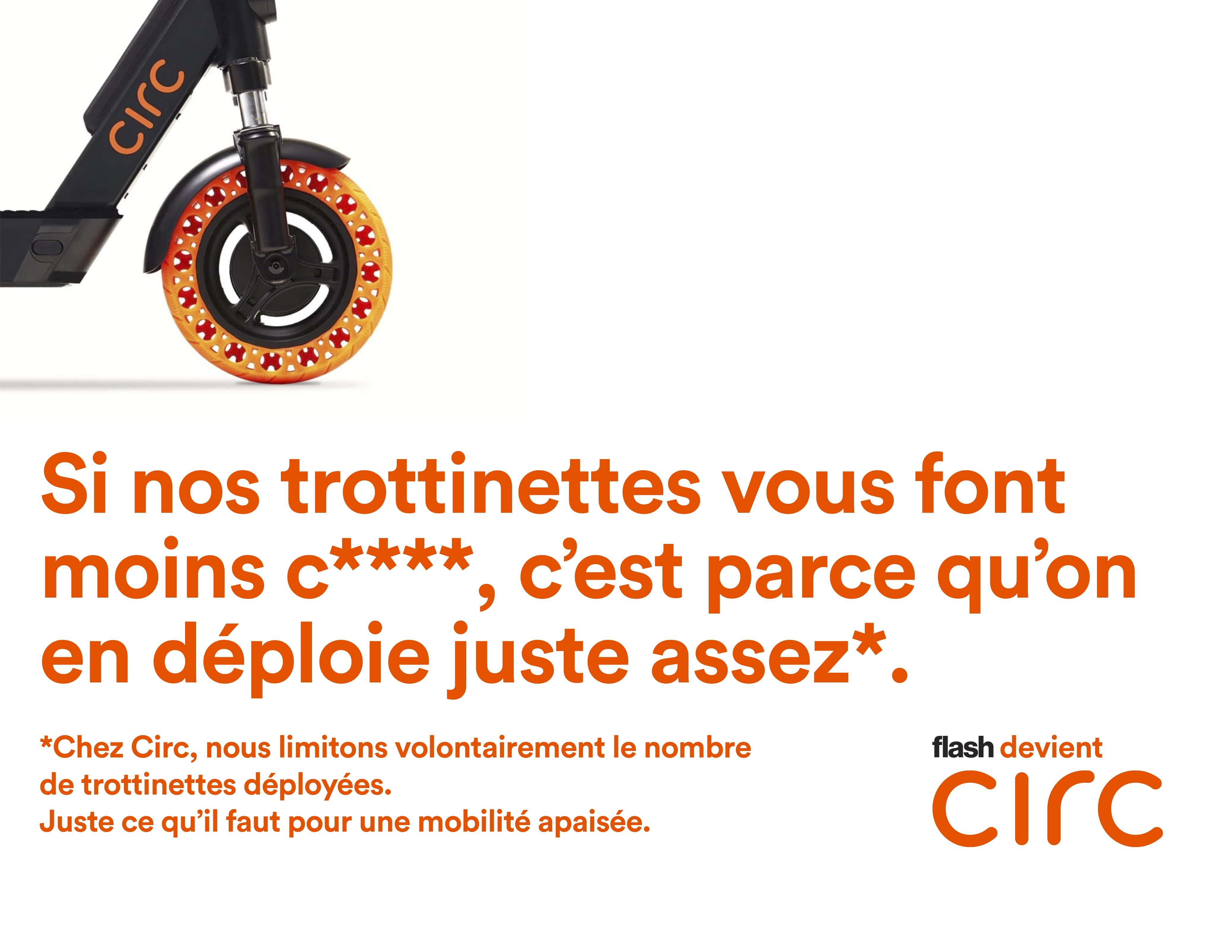 Affiche des trottinettes Circ