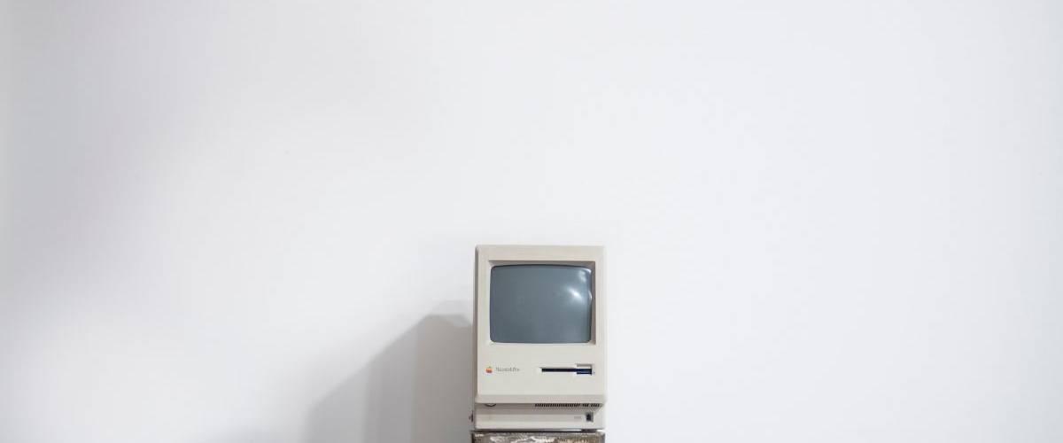 Un modèle Macintosh 128K sortie dans les années 80
