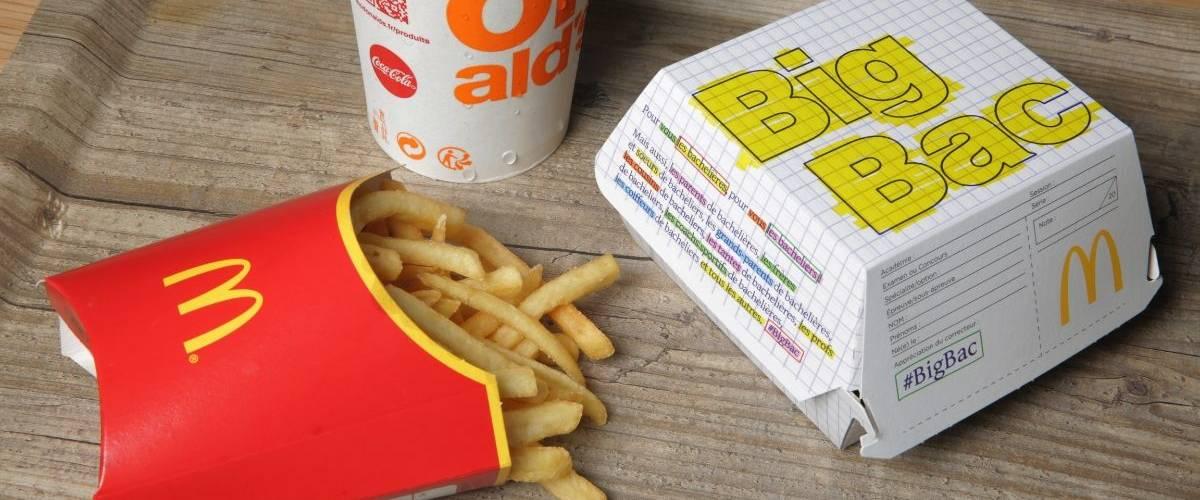 Nouveau packaging de la boite pour burger Big Mac renommé Big Bac