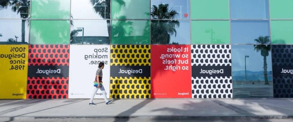 Une campagne street-marketing présentant la nouvelle identité de marque de l'entreprise Desigual