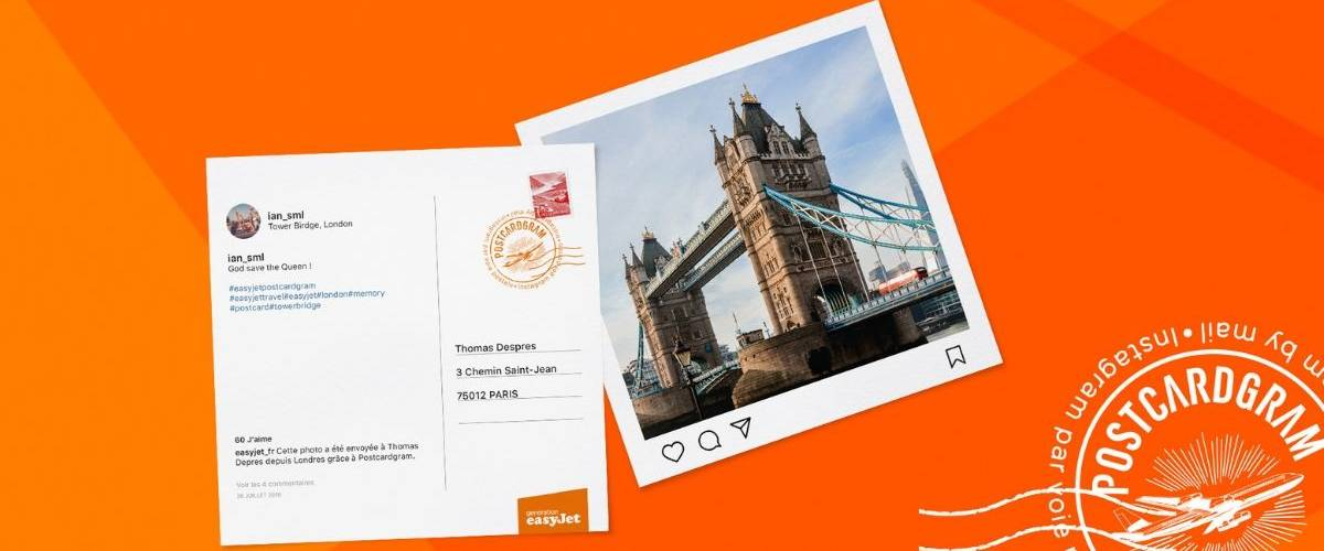 Une publication Instagram se transforme en carte postale