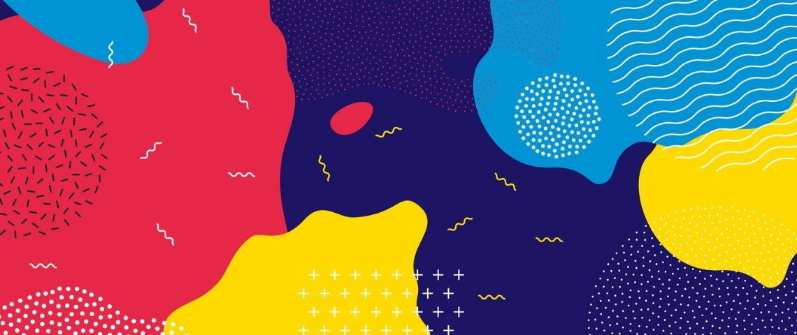 Pop art abstrait et coloré