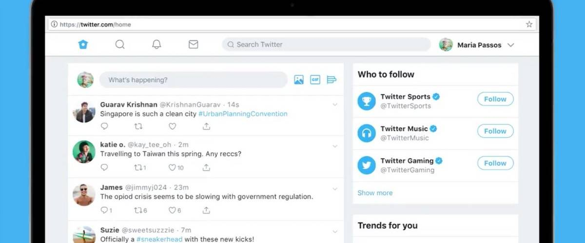 La nouvelle version de la plateforme sociale Twitter