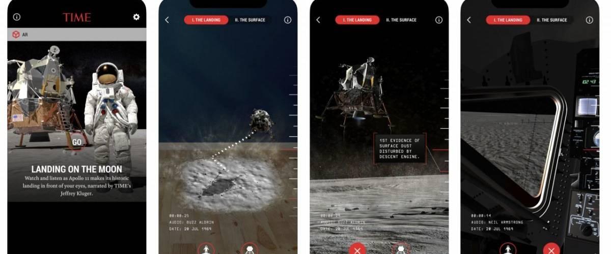 Capture d'écran de l'application Time Immersive