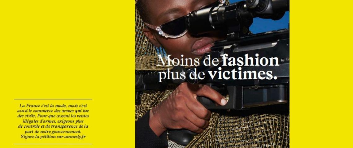 Amnesty : une campagne « fashion » pour dénoncer la vente d'armes illégale par le gouvernement français