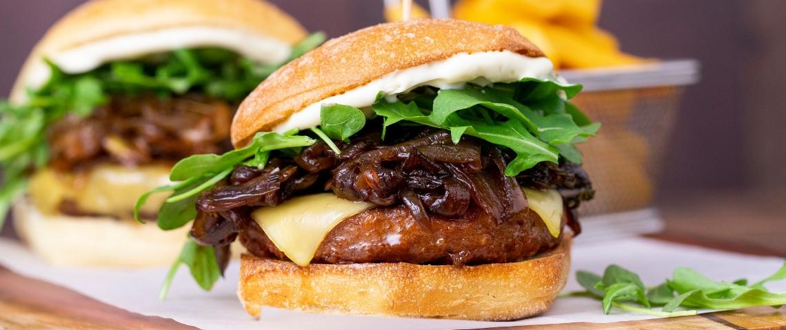 Deux burgers Beyond Meat