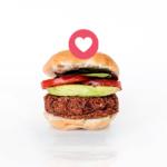 """Un burger avec un signe """"like"""""""
