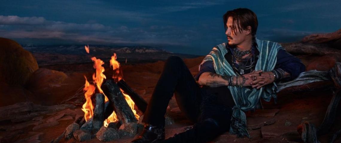Johnny Depp dans la dernière campagne Dior
