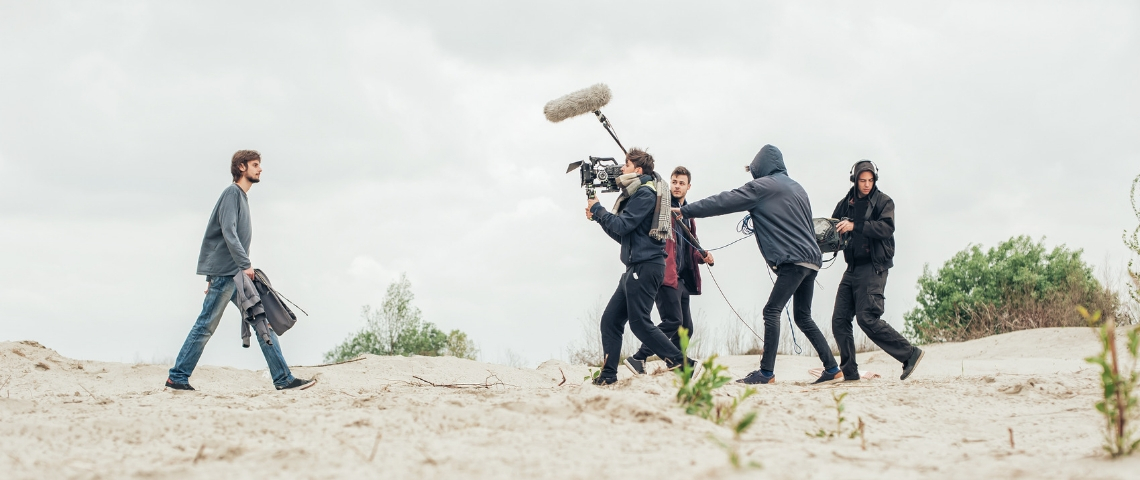 tournage en extérieur nuageux