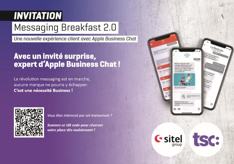 Invitation pour le messaging breakfast 2.0 organisé par TSC Digital