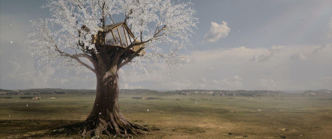 Visuel d'une cabane dans les arbres