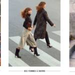 Triptyque de femmes portant les vêtement de la marque Un jour Ailleurs