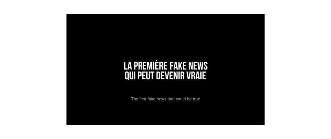 Slogan de la dernière campagne de solidarité sida signée la chose : la première fake news qui peut devenir vraie