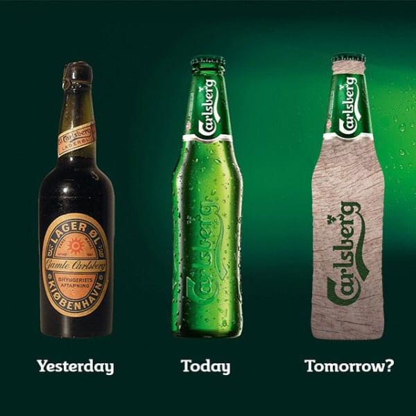 Viusel de l'évolution des bouteilles de bières