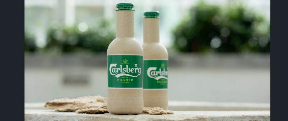Visuel de la bouteille papier de Carlsberg