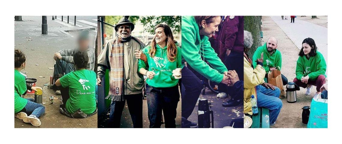 Photo du quotidien des bénévoles de l'association Dans Ma Rue qui vient en aide aux sans abris