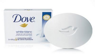 Visuel d'un pain de savon Dove et de son emabllage