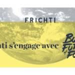 """Visuel de la campagne de communication de Frichti avec le slogan """"Frichti s'engage avec Build The Future of Food"""