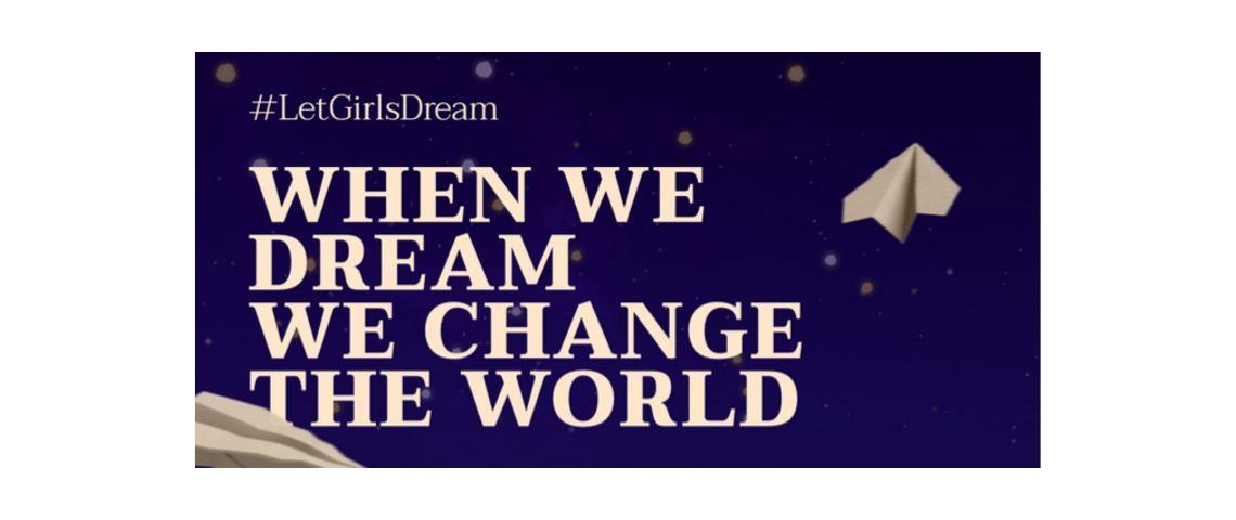 Visuel du slogan du mouvement Chime for Change de Gucci