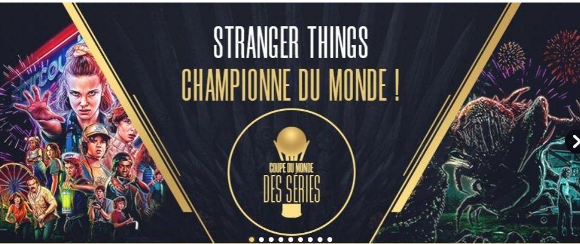 Visuel de la série qui a gagné l a finale de la coupe du monde des séries : Stranger Things