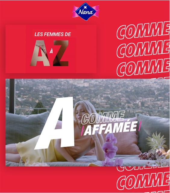 Visuel de la campagne les femmes de A à Z de Nana