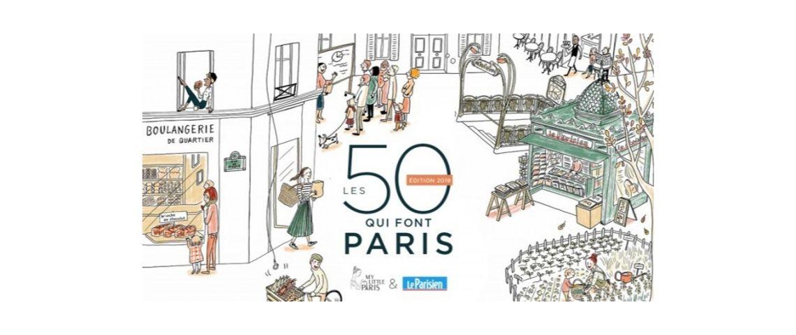 Logo de l'opération : les 50 qui font Paris
