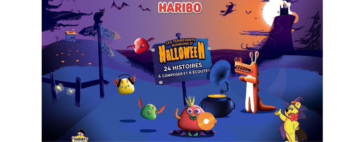 Visuel de la campagne Haribo pour Halloween