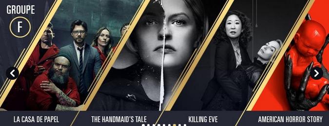 Groupe F de la coupe du monde des séries : la casa de papel, the handmai's'tale, killing eve, American horror story