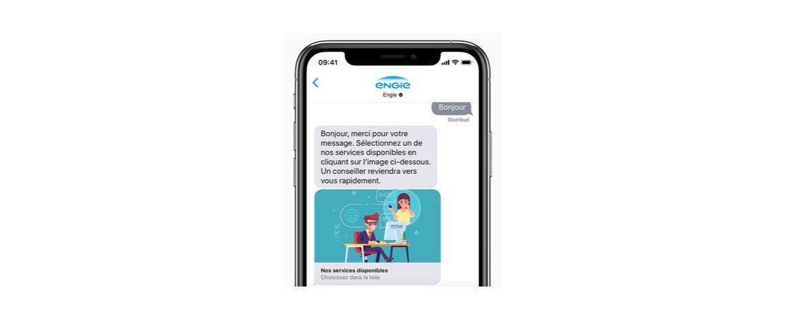 Visuel de l'interface Apple Busines Chat