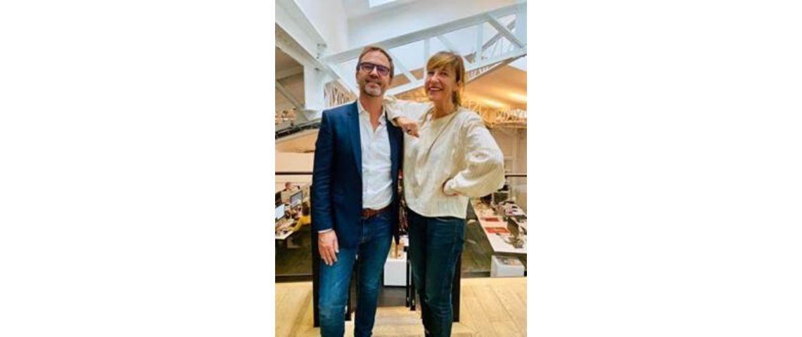 Photo de Jean Baptise Lucas et Valérie Larrondo de l'agence mazarine
