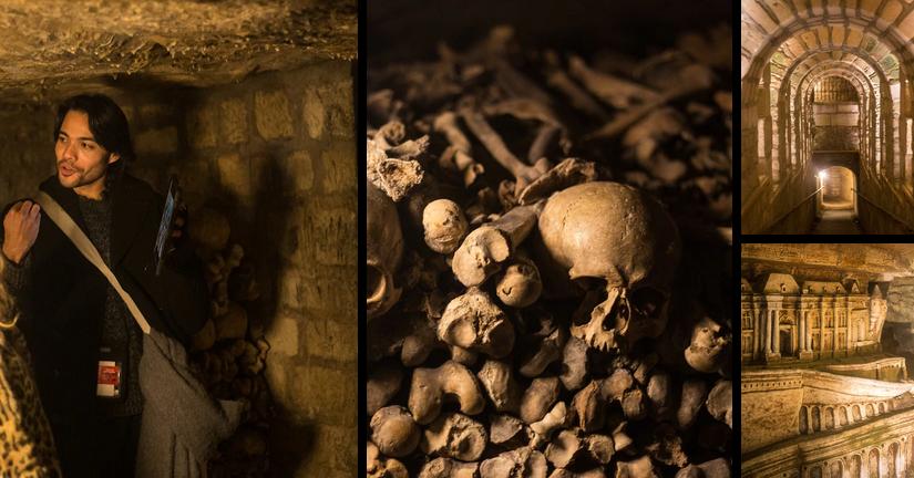 photo des catacombes de Paris