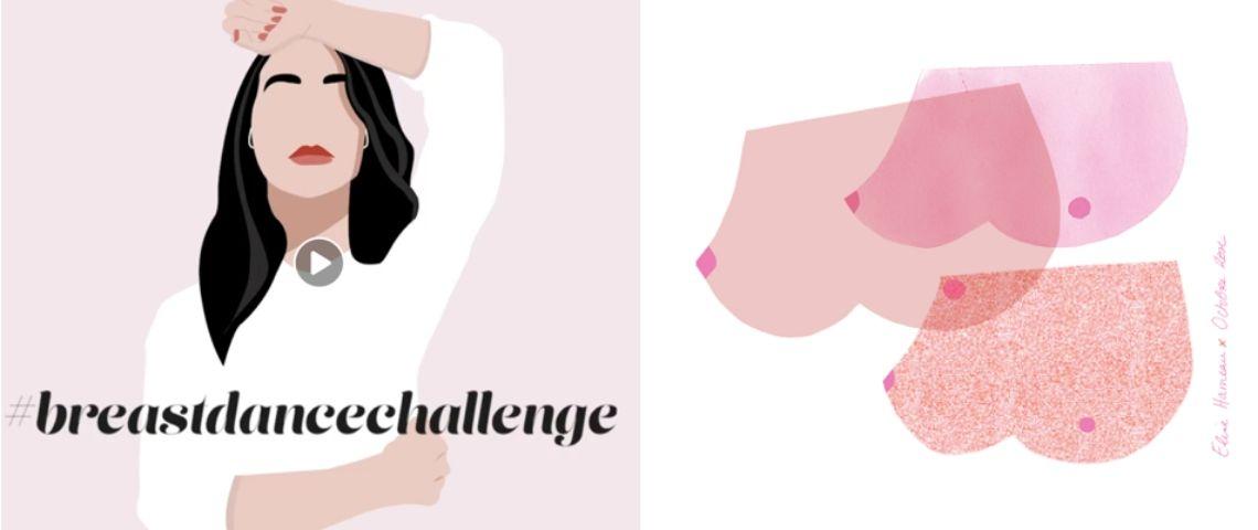 Visuel de la campagne #BreastDanceChallenge