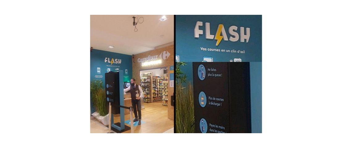 Photo du premier carrefour flash, magasin autonome