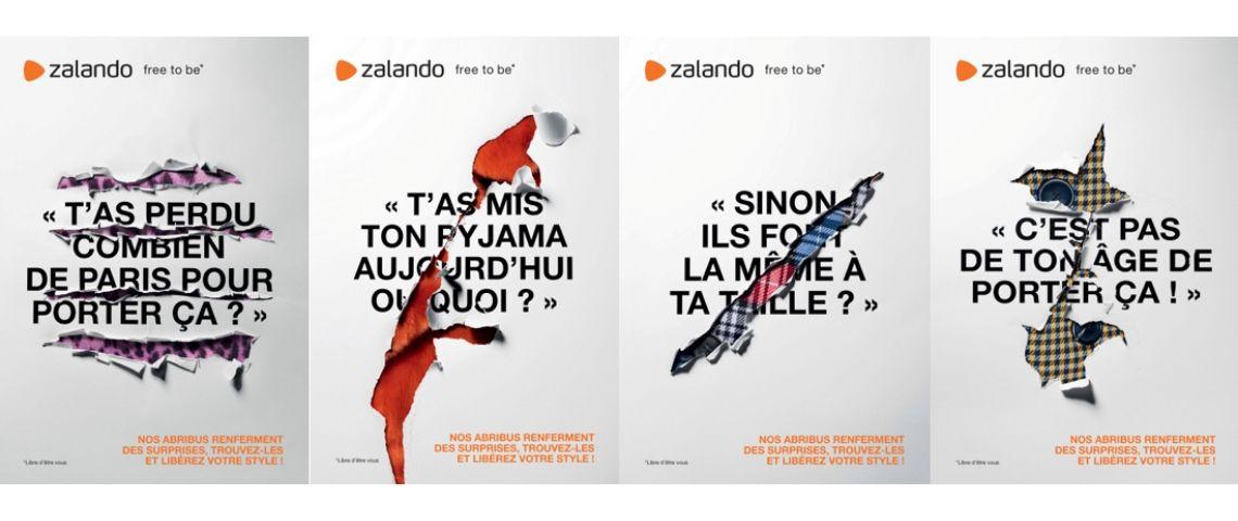 affiches de la campagne de Zalando