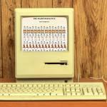Ordinateur retro affiche la page du site Hampster Dance