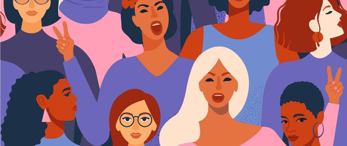 Illustration de femmes de couleurs différentes