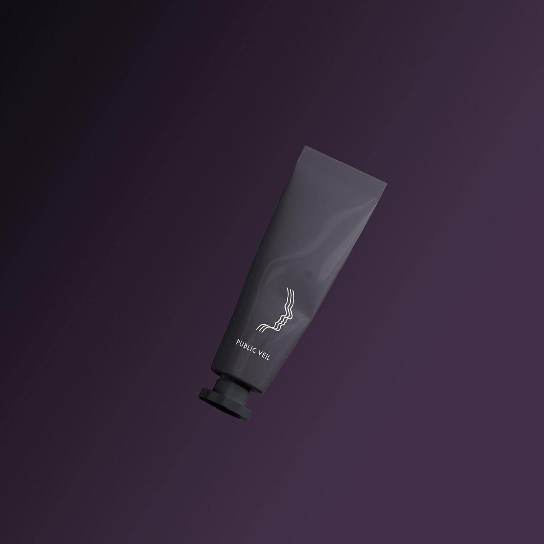 packaging d'une crème noir