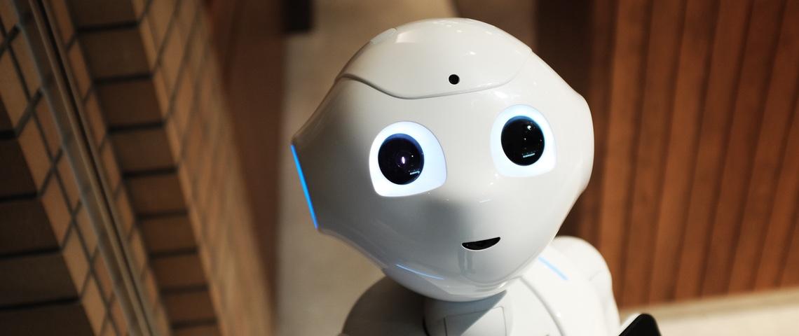 Gros plan du robot Pepper