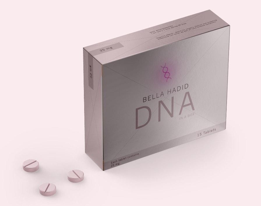 packaging rose d'un faux soin de la peau