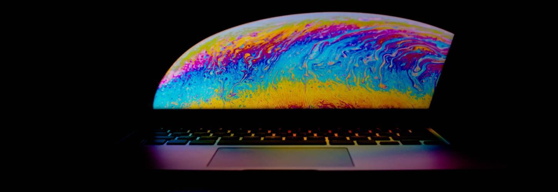 Fond d'écran coloré d'un ordinateur