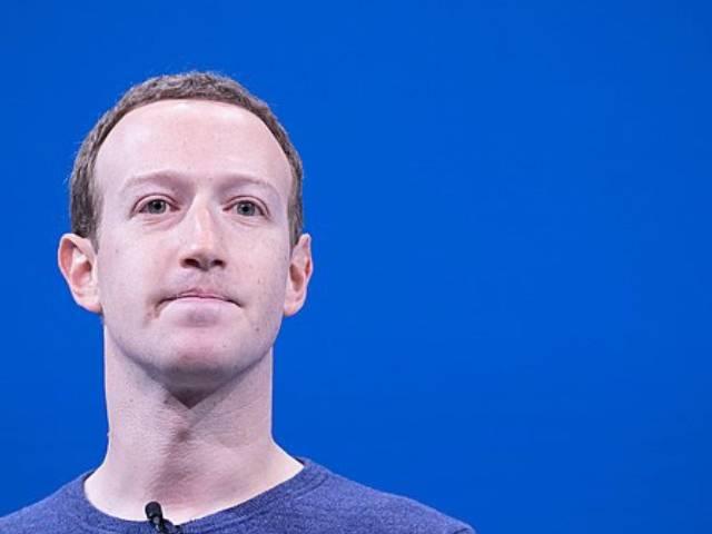 Mark Zuckerberg lors d'une conférence Facebook en 2018