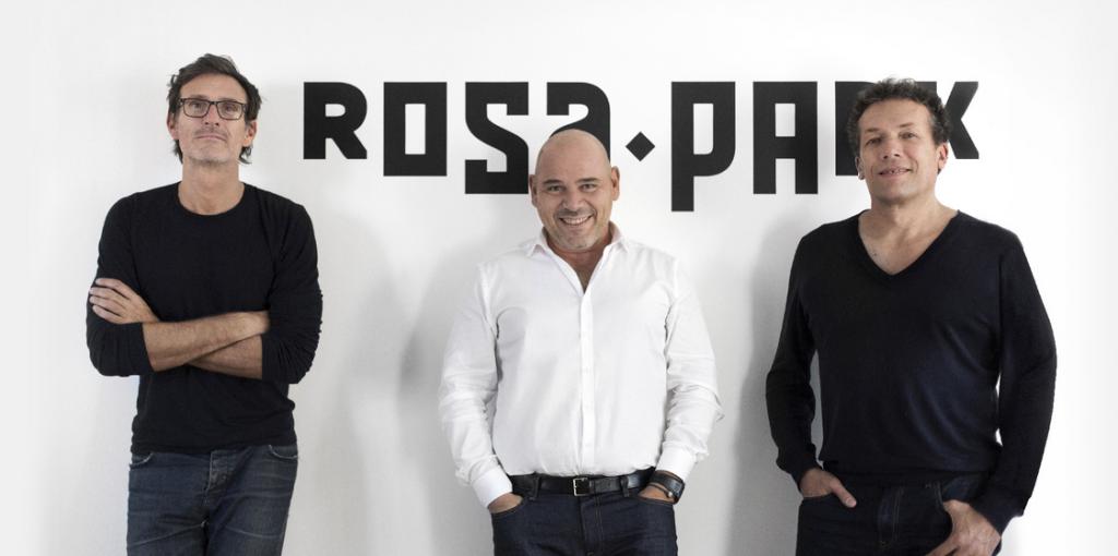 Photo de Gilles Fichteberg, Jean Patrick Chiquiar, Jean Francois Sacco, les fondateurs de l'agence Rosapark