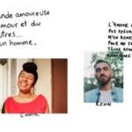 Visuel de la campagne Badoo, avec un homme et une femme qui décrivent ce qu'ils recherchent sur les sites de rencontres