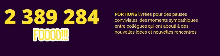 2389284 portions ont été livrées pour les pauses