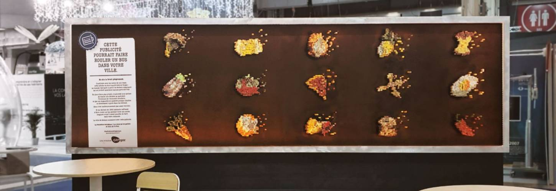 Visuel de la publicité composée de reste de repas