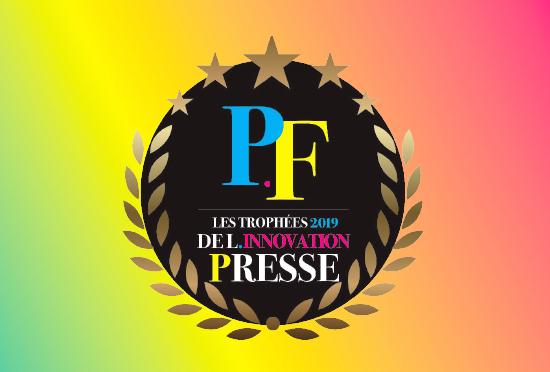 Logo trophée de l'innovation de la presse 2019