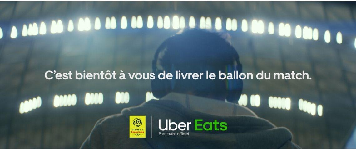 Capture de la campagne Uner eats : c'est bientôt à vous de livrer le ballon du match