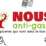 Slogan de Nous anti Gaspi : les épiceries qui vont dans le bon sens